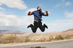 Excited business man Royalty Free Stock Photos