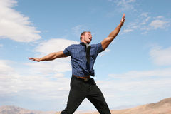 Excited business man Stock Image