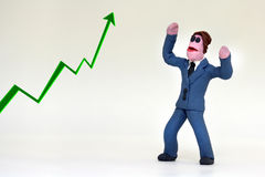 Positive business man Stock Images