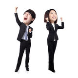 Excited business man and woman Royalty Free Stock Photography