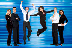 Excited business people Royalty Free Stock Photo
