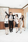 Excited business people Stock Image