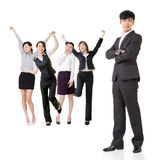Excited business team Stock Images