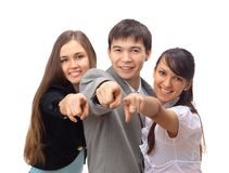 Excited business team with success Royalty Free Stock Photos