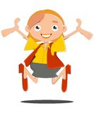 Excited Business woman. Businessman woman very excited jumping joy Royalty Free Stock Photos