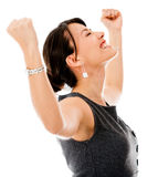 Excited business woman celebrting Royalty Free Stock Photography