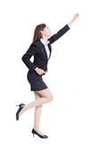 Excited business woman Stock Image