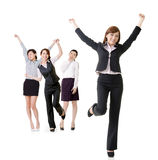 Excited business women Royalty Free Stock Images