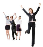 Excited business women Stock Photo