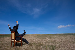 Excited businessman Royalty Free Stock Photos