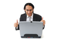 Excited businessman Stock Image