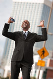 Excited Businessman Stock Photography