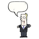 Excited businessman cartoon Stock Photo