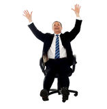 Excited businessman celebrating his success Royalty Free Stock Image