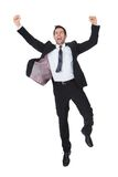 Excited businessman celebration success Royalty Free Stock Image