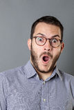 Excited businessman expressing amazement or having idea Royalty Free Stock Photography