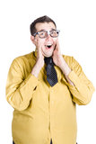 Excited businessman Stock Images