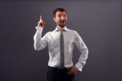 Excited businessman have an idea Royalty Free Stock Photography
