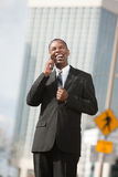 Excited Businessman On Phone Call Royalty Free Stock Photo