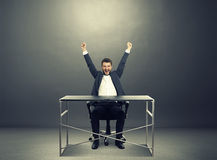 Excited businessman Royalty Free Stock Photography