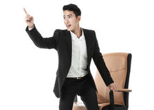 Excited businessman Stock Photo