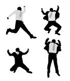 Excited businessmen jump Royalty Free Stock Images