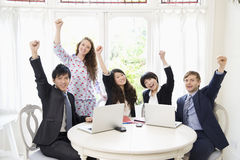 Excited businesspeople Royalty Free Stock Images