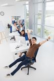 Excited businesspeople Stock Photos