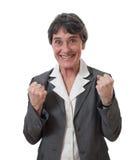 Excited businesswoman Stock Photos