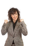Excited businesswoman Royalty Free Stock Image