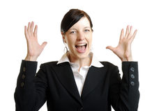 Excited businesswoman Royalty Free Stock Photography