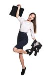 Excited businesswoman Stock Image