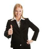 Excited businesswoman celebrating success Royalty Free Stock Photo
