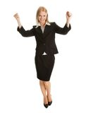Excited businesswoman celebrating success Stock Image
