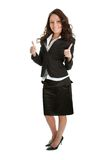 Excited businesswoman celebrating success Stock Photos