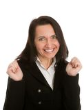 Excited businesswoman celebrating success Stock Photography