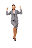 Excited Businesswoman Celebrating Success Royalty Free Stock Images