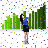 Excited businesswoman with chart Royalty Free Stock Images