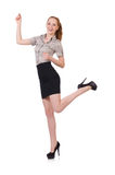 Excited businesswoman isolated Royalty Free Stock Images
