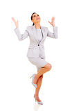 Excited businesswoman Stock Photography
