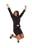 Excited businesswoman Stock Photo