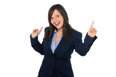 Excited businesswoman Royalty Free Stock Photos