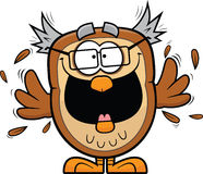 Excited Cartoon Owl Royalty Free Stock Image