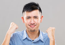 Excited cheerful man Stock Image