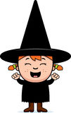 Excited Child Witch Stock Photo