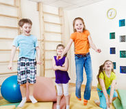 Excited children Royalty Free Stock Images