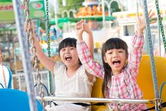 Excited children Stock Photos