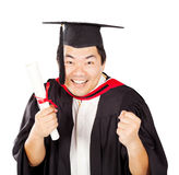 Excited chinese graduate Stock Photography