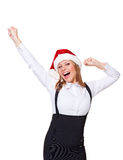 Excited christmas businesswoman Stock Images