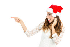 Excited christmas woman Royalty Free Stock Photo